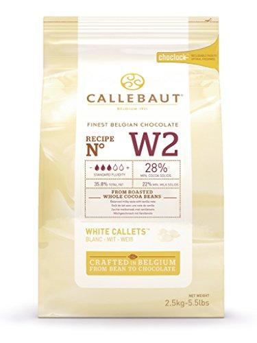 Callebaut - Weiße Schokolade Callets Kuvertüre Glasur - 2,5kg