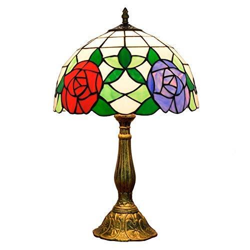 HYY-YY Lámpara de Mesa de Color Rosa Cristal de la habitación Dormitorio Lámpara de Mesa de Noche del Club Bar de la habitación Interior (12'Ancho 19' Altura) Estilo Vivir