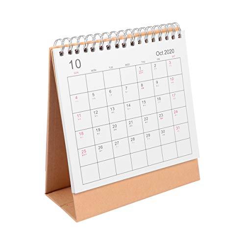 Tomaibaby 2021 Calendario Calendario Minimalista Patrón de Animales de Escritorio Planificador Autónomo Bloc de Notas Adorno Suministros de Papelería para La Decoración de La Oficina en