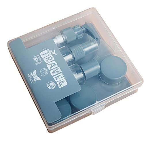 Botellas portátiles set de viaje pequeña muestra claro vacío del envase botella del aerosol tarro crema para la loción cosmética Gel de ducha Champú 8PCS gris
