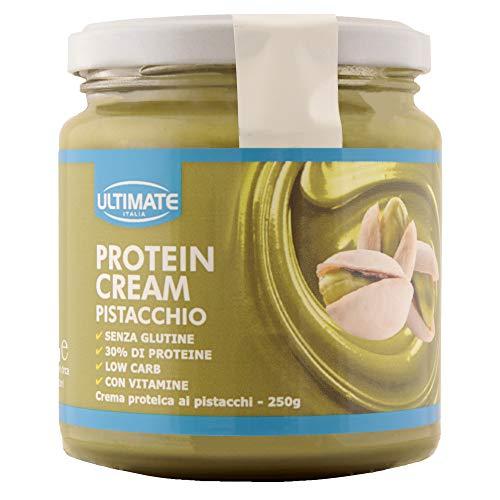 Protein Cream Pistacchio - Crema Proteica Spalmabile Col 30% Di Proteine Del Siero Del Latte - Whey Isolate Microfiltrate - Senza Glutine - Senza Zucchero - Low Carb - 250 g - Ultimate Italia