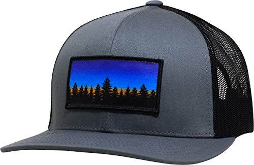 LINDO Trucker Hat - Tree Line Sunset (Gray/Black)
