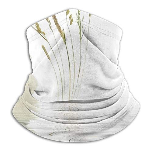 GKAOSPLSR Calentador de cuello de microfibra reutilizable para hombres y mujeres, resistente al viento, transpirable, bandana para correr al aire libre, ciclismo, piedra zen, hierba silvestre