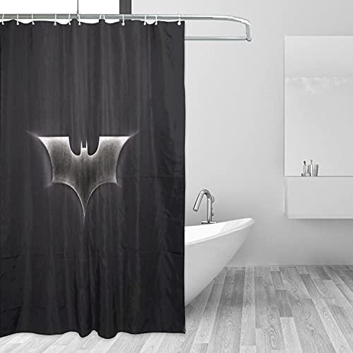 Why So Serious Joker Batman Duschvorhänge, wasserdicht, maschinenwaschbar, Stoff, Badezimmer-Dekoration, Zuhause, Wohnheim, Badewannen-Gardinen, 168 x 183 cm