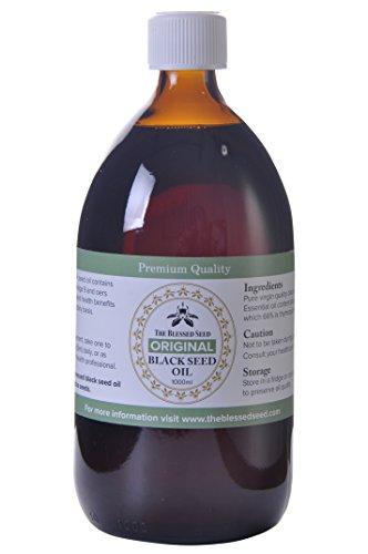Original Strength 1000 ml (1Litre) Graines de cumin noir Huile Pressée à Froid 100% pure