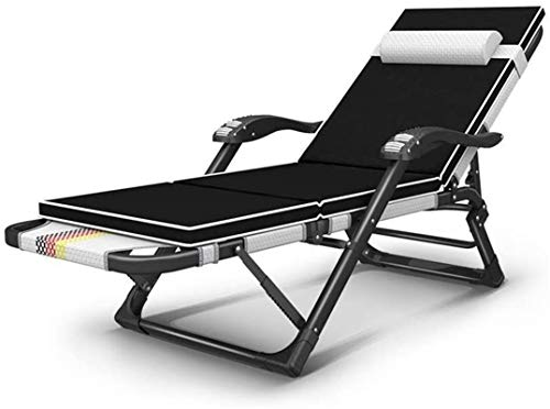 Sillón Sillón reclinable reclinable reclinable plegable, reclinable de plegable de gravedad de cero ajustable para playa sol camping jardín cubierta reclinable silla almuerzo descanso perezoso sofá re