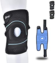 Knee Brace for Men & Women with Patella Gel Pads&Side Stabilizers, Adjustable Compression Knee Sleeve for ACL, LCL, MCL,Knee Support,Meniscus Tear,Arthritis Pain,Tendinitis Pain,Pain Relief,Running