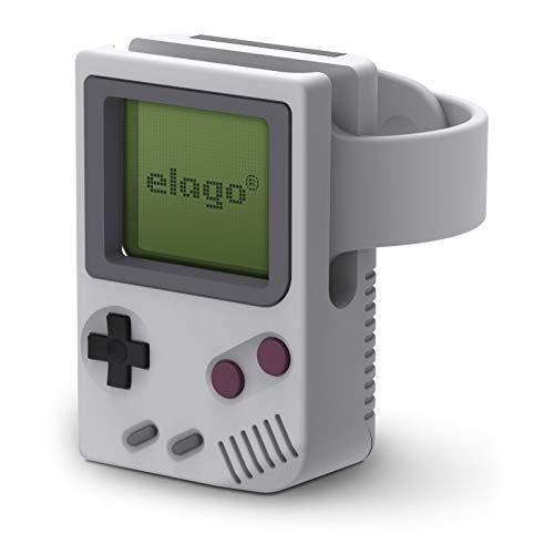 elago W5 Stand Kompatibel mit Apple Watch Ladestation Ständer Series 6, SE (2020) / Series 5, 4, 3, 2, 1 / 44mm / 42mm / 40mm / 38 mm, Nachtmodus [Patent angemeldet] (Grau)