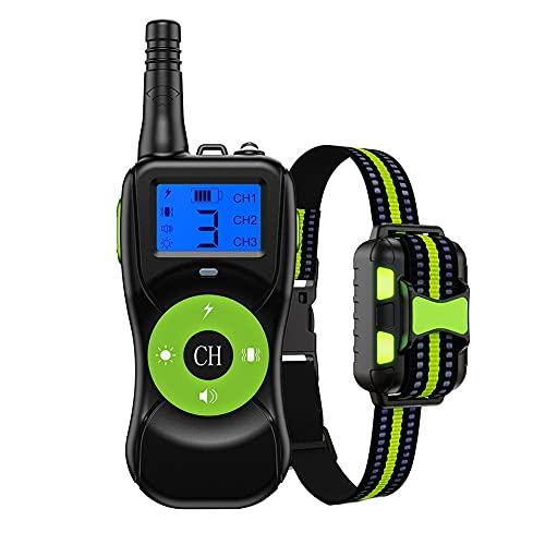 ESHOO Verbessertes Antibell Halsband mit 800M Fernbedienung,USB Wiederaufladbares Anti-Bell-Hundehalsbänder mit Spray/Vibration/Ton Modi für Hundetraining, für Kleine, Mittelgroße und Große Hunde