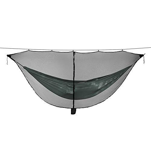Hui Jin - Moustiquaire pour hamac d'extérieur - 340 x 140 cm - Housse anti-moustiques - Hamac léger et portable - Noir