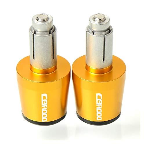 Ein Paar CNC Aluminium Motorrad Hand Lenker Endkappe Lenkergriffe Enden Stecker Schieberegler Für Honda CBF1000 CBF-1000 CBF 1000 (Farbe : Farbe 7)