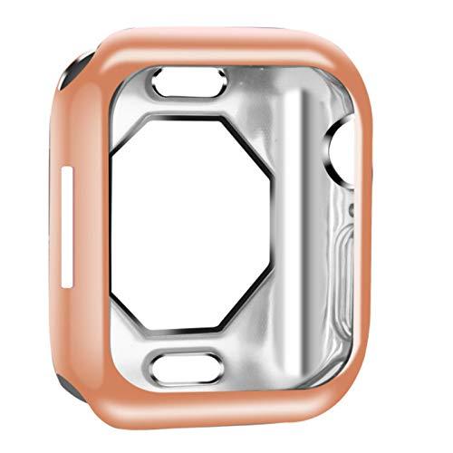 Funda Protectora de TPU con Revestimiento Suave Octagon Funda Protectora Hueca para Apple Watch Series SE / 6/5/4 Carcasa de Parachoques Delgada para iWatch 44mm 40mm