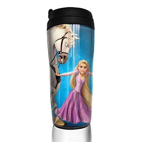 Rapunzel enredado Taza de café reutilizable Vaso Termico Café Termo Taza Termica Viaje Botella Acero Inoxidable