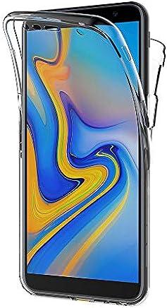 AICEK Coque Samsung Galaxy J6 Plus, 360°Full Body Transparente Silicone Coque pour Samsung Galaxy J6+ Housse Silicone Etui Case (6,0 Pouces)
