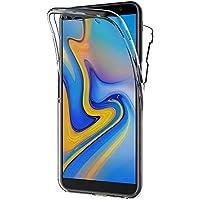 AICEK Funda Samsung Galaxy J6 Plus, Transparente Silicona 360°Full Body Fundas para Samsung Galaxy J6+ Carcasa Silicona Funda Case (6,0 Pulgadas)
