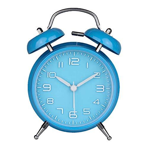 KBDCP Draagbare Mode Klassieke Stille Dubbele Klok Wekker Stijl Klokken Home Decor