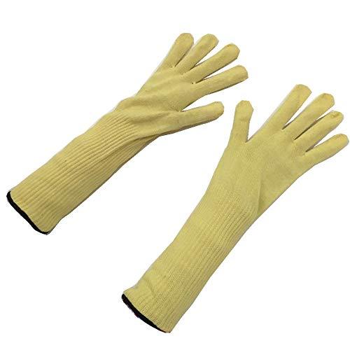 YIJIAN Hoch Performance Level-5-Schutz,Lange Aramid Schnitt Beständig,Hoch Temperatur Beständig Handschuhe,Sicherheit Handschuhe Dauerhaft/Gelb/Einheitsgröße