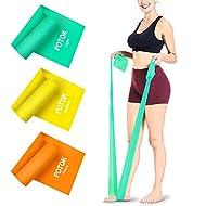 Potok Bande di Resistenza Elastica Fitness, 3 Pack 1.5 Mresistance Fasce per Mobilità Forza e Riabilitazione di Alta qualità