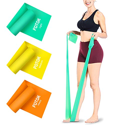 Potok Resistance Bands, 1.5 Meter Premium Quality Fitness Bands for...