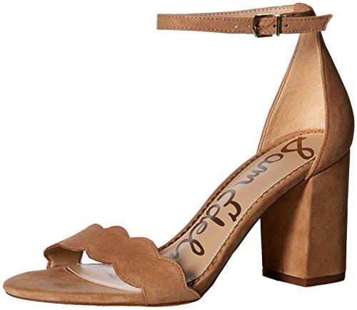 Sam Edelman Women's Odila Heeled Sandal, Golden Caramel Suede, 8.5 M US
