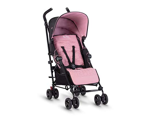 Silver Cross Zest Stroller, Compact and Lightweight Fully Reclining Baby To Toddler Pushchair – Powder Pink