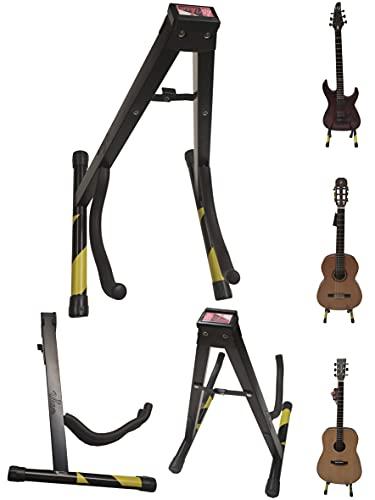 UKAM AM-SGS-01 Soporte de guitarra suelo para Guitarra Clasica, Eléctrica, Acustica y...