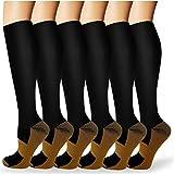 ACTINPUT Calcetines de Compresión Medias de Compresion Mujer y Hombre para Running,Atlético, Ciclismo,Médico, Enfermera,Volar, Viajar