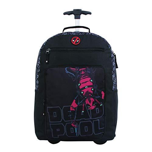 Mochila Escolar com Rodinhas, DMW Bags, 11379, Deadpool