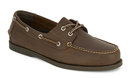 Dockers Men's Vargas Leather Handsewn Boat Shoe,Rust, 7 M US