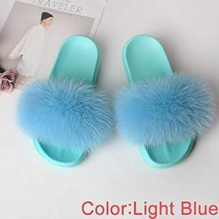 Slippers Shoes Women Slides House Real Sandals Ladies Cute Summer Women's Flip Flops Fluffy Green 2019