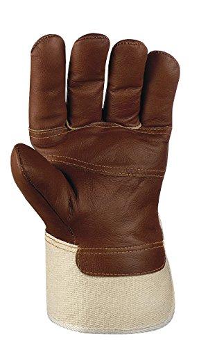 120 Paar - Möbelleder-Handschuhe braune Farben - teXXor® - 1113 - Größe 10