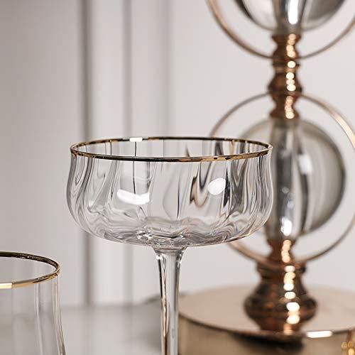 GSPURS Champagner-Cocktail-Untertasse, klare Gläser, 1 Stück