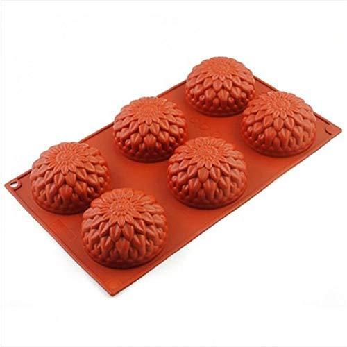 GJEFEGS Molde de Pastel de Silicona con Forma de Girasol Muffin Sweet Candy Jelly Fondant Cake Moldes de pudín de Chocolate Moldes de Cubitos de Hielo DIY