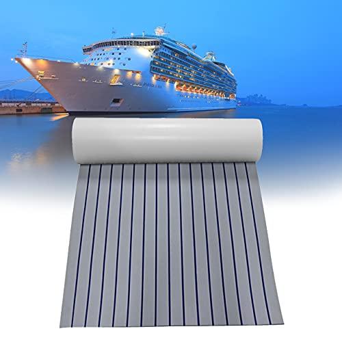 ZhiLianZhao Suelo de Barco Lámina de Teca Espuma EVA, Cubiertas de Teca Sintética para Barcos, con Limpieza Rápida, para Remolques Barcos, Almohadillas Tablas Surf, Almohadillas Remolque,450 * 2400mm