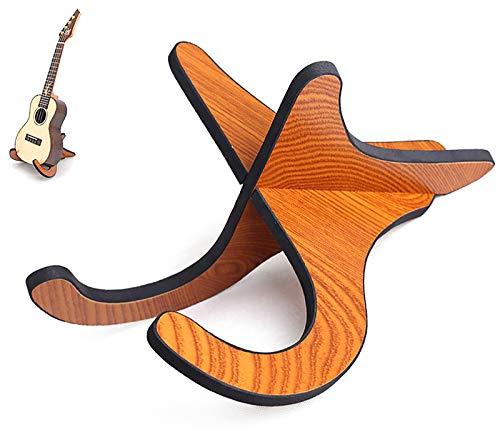 Miystn Miystn Soporte de Madera para Ukelele, Soporte Portátil para Instrumentos Musicales, Soporte para Violín, Mandolina, Ukelele, Banjo(1 Par, Color A)