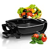 Geepas 1500W Multifunctional Electric Skillet | Multi Cooker Ideal for Frying | Electric