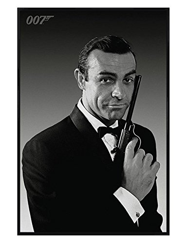 James Bond Affiche encadr/ée Photo Connery Noir et Blanc 30/x 40/cm