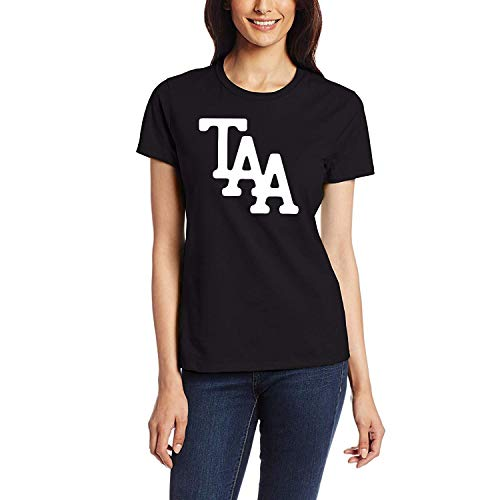 AAAFOUR Women's/Damen The Amity Affliction Logo Cotton Neck T-Shirt