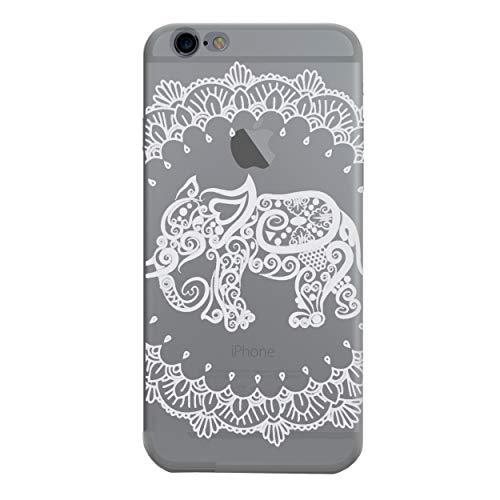 iCHOOSE Mandala Paisley Gel Case voor Smartphone Apple iPhone 5 / 5s Olifant.