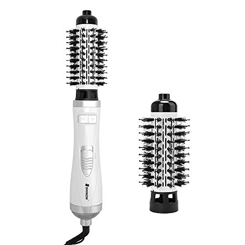 Professional Ionic Hot Air Brush, 3-in-1 One-Step Hair Dryer and Volumizer 900-Watts Lightweight Styling Brush for Hair Drying, Styling, Curling, Straightening, 1 1/4 Inch