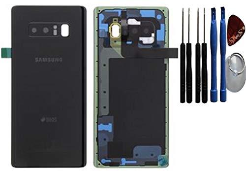 Original Samsung Tapa de la batería, parte posterior, cubierta de la batería para Samsung Galaxy Note 8 DUOS N950F Negro / lámina adhesiva/ herramienta