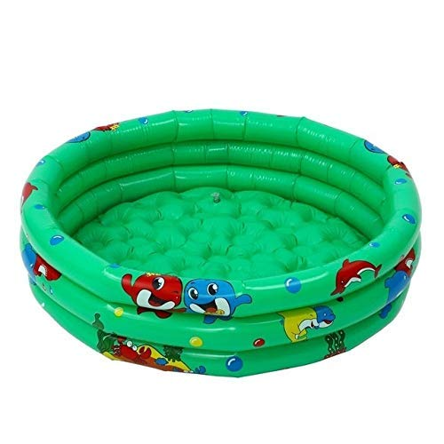 DJYD 90x25cm Inflable Piscina del bebé portátil niños al Aire Libre Bañera Cuenca niños Piscina Piscina del bebé de hidromasaje de Agua (Color: Azul) FDWFN (Color : Green)