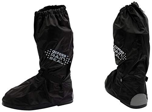 Oxford Rainseal - Botas Impermeables para Moto, 2 XL, OBXXL, Color Negro, L