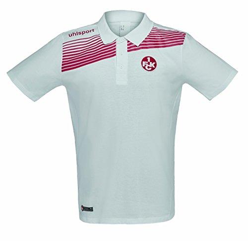 uhlsport Herren FCK Liga 2.0 Polo Shirt 16/17, Weiß/Chilirot, 140