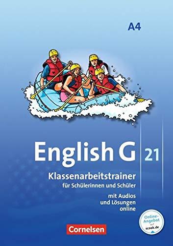 English G 21 - Ausgabe A / Band 4: 8. Schuljahr - Klassenarbeitstrainer mit Lösungen und Audios online