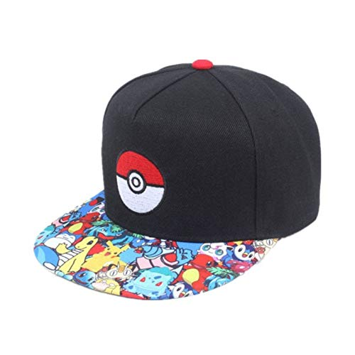 MAOZIJIE Cosplay Handy Spiel Pokemon Gehen Baseballmütze Hip Hop Caps Frauen Mans Anime Hut Flach Einstellbare Pokemon Ash Ketchum Hut