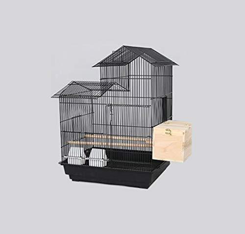 Space- rack Z-W-Dong Maison Type Cage Perruche, Robuste de Boîtes d'élevage en Acier Inoxydable Cages for l'affichage et la visualisation Oiseaux/Cages à Oiseaux (Color : B, Size : 52 * 41 * 70CM)