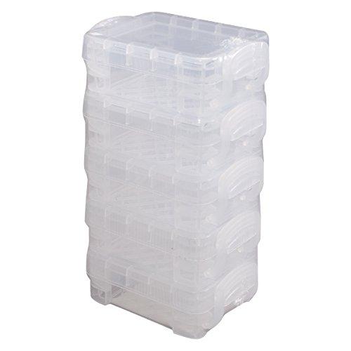 Advantus - Scatole per bambini, in plastica, 3,6 x 6,3 x 8,6 cm, colore: Trasparente