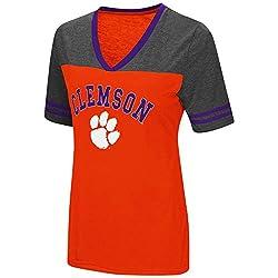 Colosseum Womens NCAA Varsity Jersey V-Neck T-Shirt