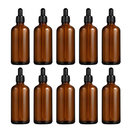 ULTECHNOVO 50ml Botellas de Vidrio con Cuentagotas de Vidrio Pipetas Vacías Cuentagotas 10pcs